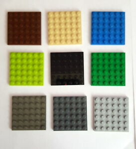 Lego 2 x Platte Bauplatte flach 3958 rot   6x6