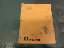 Ditch Witch 3500 Trencher Parts Book Manual 050 693 3pl 1290