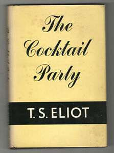 1950-THE-COCKTAIL-PARTY-T-S-Eliot-FIRST-EDITION-2nd-Printing-DUST-JACKET-Play