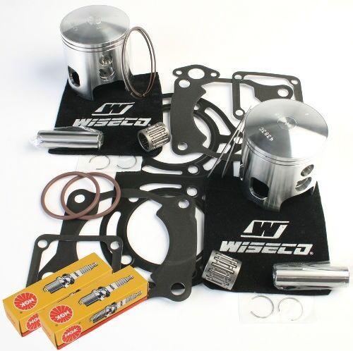 66.5mm Pistons Top End Gaskets Spark Plug Yamaha YFZ350 Banshee 1987-2006