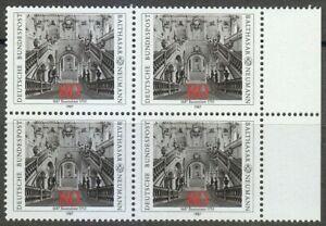 Germany-1987-MNH-Mi-1307-Sc-1497-Archbishop-s-Residence-at-Wurzburg-Block-of-4