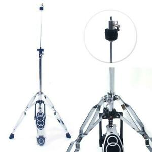 New-Drum-High-Hat-Cymbal-Stand-Double-Braced-Chrome-Parts-Accessories