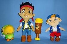 Disney plush Jake & The Neverland Pirates;Skully;Cubby;INTERACTIVE TELESCOPE;LOT