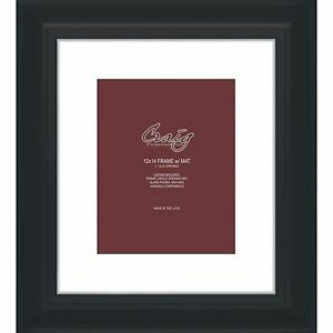 Craig Frames 12x14 2 Quot Black Picture Frame White Mat With