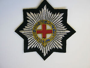 Details about Coldstream Guards Bullion Wire Embroidered Blazer Badge -  British Army