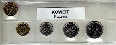 Koweit Série De 5 Pièces De Monnaie Modern En Elegant In Mode