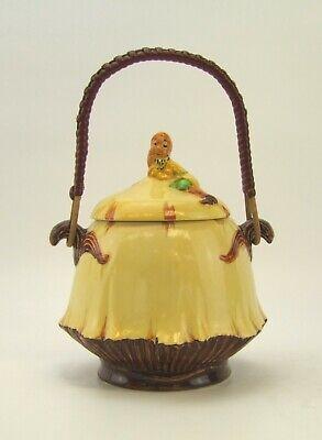 Ehrlich Burleigh Ware 1940er Jahre Gnom / Imp Muster Keksdose - Made In England.