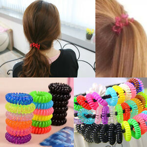 12 Spiral Slinky Hair Bands Head Elastics Bobbles Accessory Rope ... 449bb50ce7a