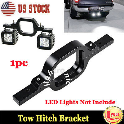 Tow Hitch Mount Bracket For Dual 18W LED Backup Reverse Light Offroad Truck SUV