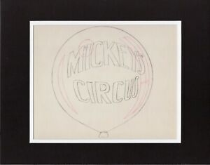 Mickey-Mouse-1936-Production-Animation-Title-Cel-Drawing-Disney-Mickey-039-s-Circus