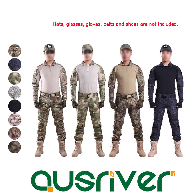 Army Military Camouflage Tactical Combat Frog Suit Shirt Trousers Pants Uniform
