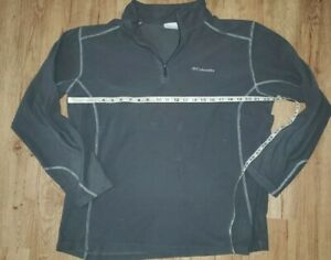 Columbia-mens-1-4-Zip-pullover-size-XL-gray-small-holes-in-front
