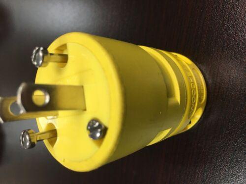 Daniel Woodhead 1404 Male 2 Pole 2 Wire Safeway Plug 15A 125V Super Safeway *NEW