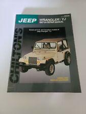 Chilton Repair Manual Jeep Wrangler /& YJ 1987-2011  #40650