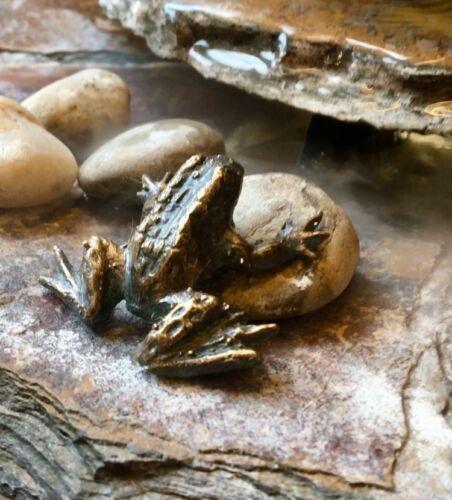 Bronzefigur Frosch mini Gartenfigur Bronze Skulptur Rottenecker