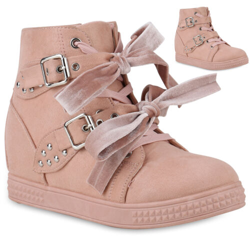 Damen Sneaker Wedges Keilabsatz Trendy Schuhe Sneakers High 891915 Trendy