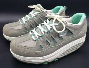 Skechers-Shape-Ups-WOMEN-039-S-gray-Teal-Camminata-esercizio-Tg-UK-9-5