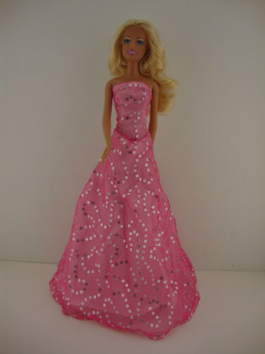 A Light Pink Dress with Lots of Sparkle Made to Fit the Barbie Doll