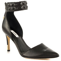 Women Guess Evanne D'orsay Pointed-toe Pumps, Sizes 6-9.5 Black Leather Auth