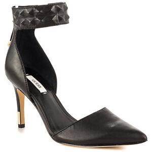 en noir bout cuir pointu 5 D'orsaytailles Femme New Escarpins à Auth Guess Evanne 6 9 80XwZNnOPk
