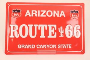 Arizona Route 66 Grand Canyon State Tin Sign Advertising 29x19 CM Value