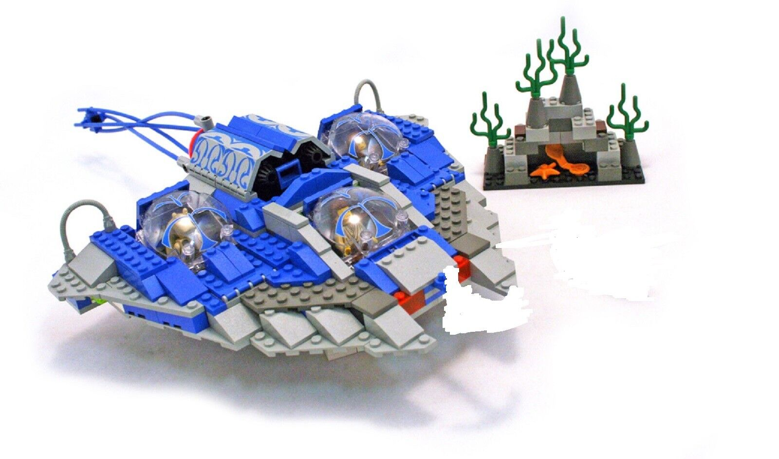 Lego 7161 Star Wars Gungan Sub vaisseau complet manque 2 pièces de 1999 -NG4
