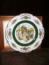 ASCOT DECORATIVE WALL SERVICE DISPLAY PLATE WOOD & SONS ENGLAND GOLD GREEN