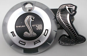 2007-2009-Shelby-GT500-Front-Grille-Badge-and-Faux-Fuel-Cap-GT500KR-Take-Offs