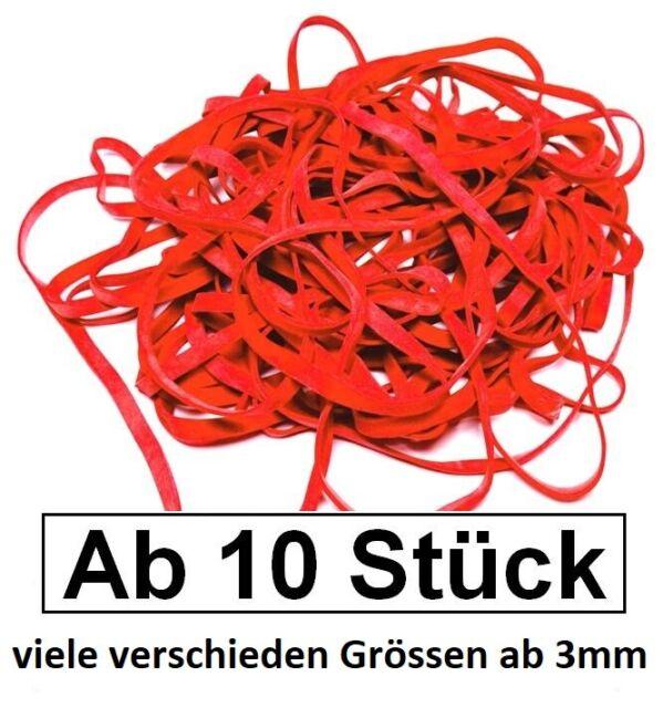 1 kg Gummiringe natur 200 mm Ø 1,2 x 3 mm breit Haushaltsgummis Gummibänder