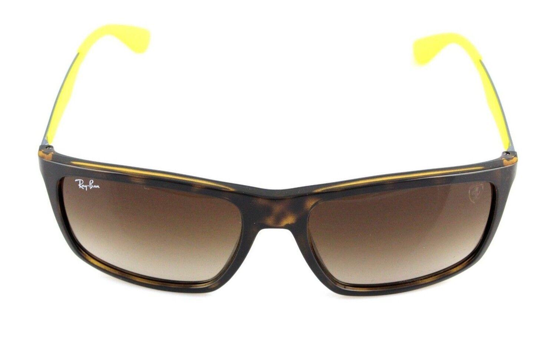 e2d798c0973 Scuderia Ferrari Ray-Ban Tortoise Yellow Sunglasses RB 4228-m F60913 ...