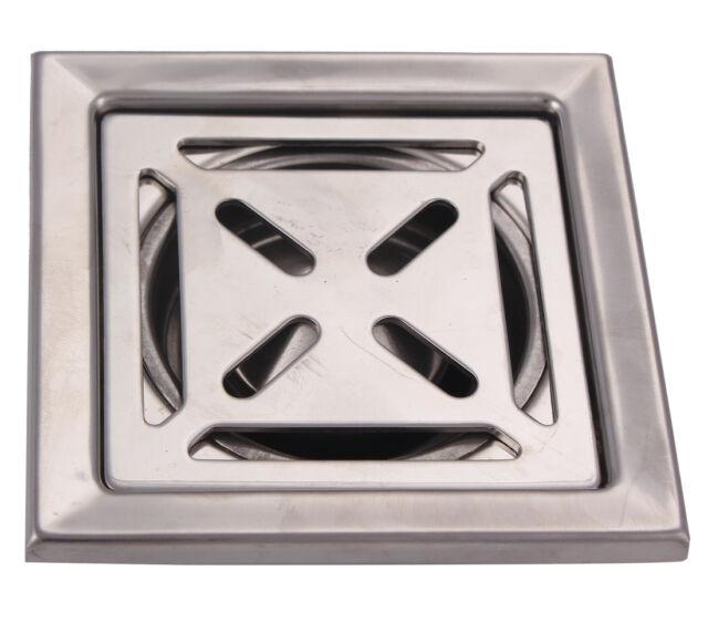 Stainless Steel Floor Drain Square Floor Waste Grate Bathroom Shower Floor Drain