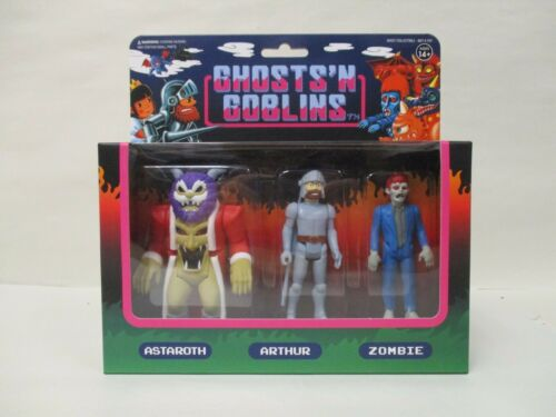 EXCLUSIVE SUPER7 GHOSTS N/' GOBLINS REACTION 3 PACK ASTAROTH ZOMBIE LOT ARTHUR