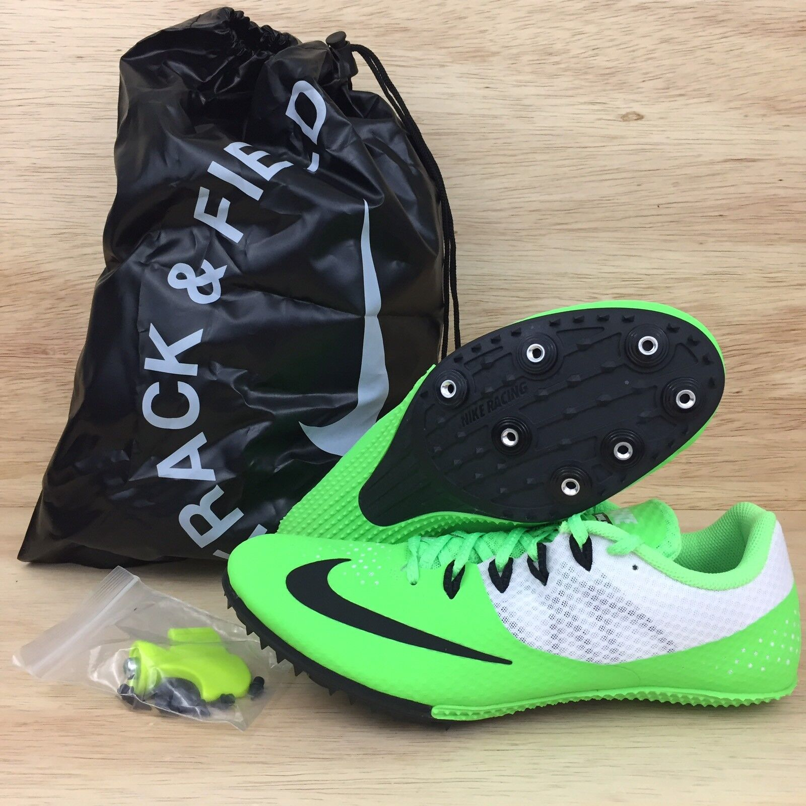 Nike Zoom Rival S8 Mens Track Spikes 806554-300 Voltage Green White Comfortable Brand discount