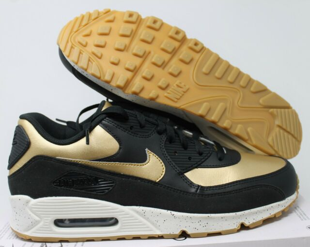 super popular 6ae47 f08dc NIKE MEN AIR MAX 90 ID BLACK-GOLD-WHITE SZ 12  931902-