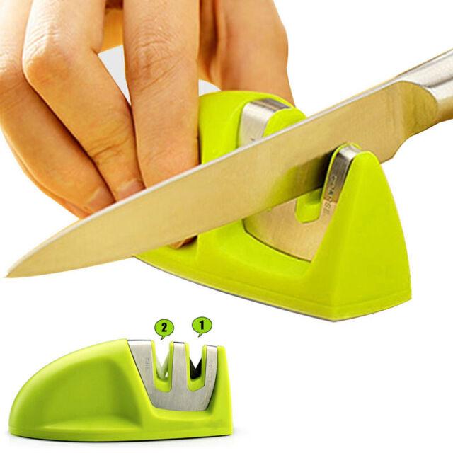 2-Stufen Messerschleifer Messerschärfer Universalschärfer Messer Schärfgerät Set
