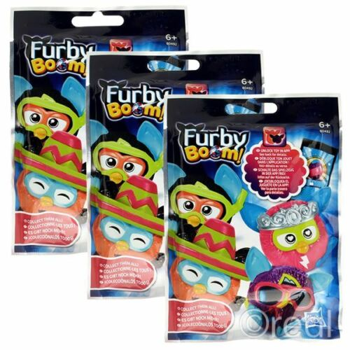 """New 1 3 5 Or 10 Furby Boom Blind Bag Eggs 2/"""" Mini Figures Mystery Official"""
