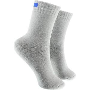 Cosey Dicke Socken Zweifarbig Hellgrau 40-45 2 Paar Baumwolle Atmungsaktiv Weich Ideales Geschenk FüR Alle Gelegenheiten