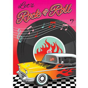 Image Is Loading I LOVE ROCK AND ROLL Classic 50s INVITATIONS