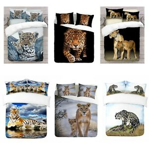UK-Made-3D-Lions-Design-Photo-Digital-Duvet-Quilt-Cover-With-Pillowcases