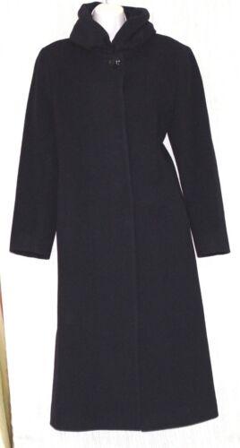 Cinzia Rocca due Black Wool Cashmere Women's Trenc