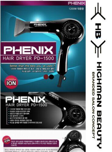 PHENIX altamente PRO PD-1500 ASCIUGACAPELLI PARRUCCHIERI SALONE rapida essiccazione Coreano Made