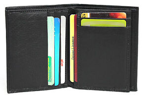 RFID-Security-Lined-Leather-Card-Holder-Wallet-Black-or-Brown-Style-No-11016