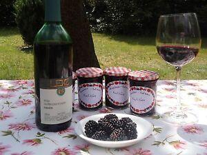 Brombeer - Rotwein - Konfitüre, 4 Gläser zu je 230ml - Deutschland - Brombeer - Rotwein - Konfitüre, 4 Gläser zu je 230ml - Deutschland