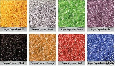 RAINBOW DUST SPARKLING SUGAR CRYSTALS CAKE SPRINKLES IN 16 COLOURS