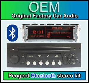 Peugeot 207 Bluetooth stereo, Peugeot AUX USB radio, Display Screen
