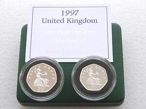 1997-Royal-Mint-Britania-50p-CINCUENTA-Penique-De-Plata-Prueba-2-Moneda-Caja
