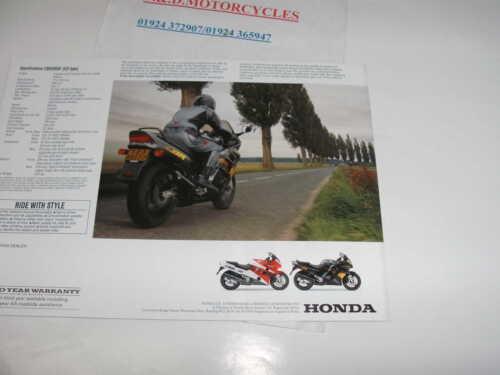 HONDA CBR1000 F   SALES BROCHURE