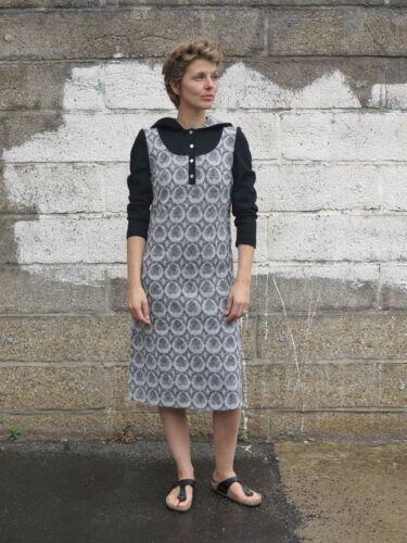 con Kapuzenkleid Vintage Finland capucha Chaqueta True Design mujer 90er Kaarina para UAq1Wg