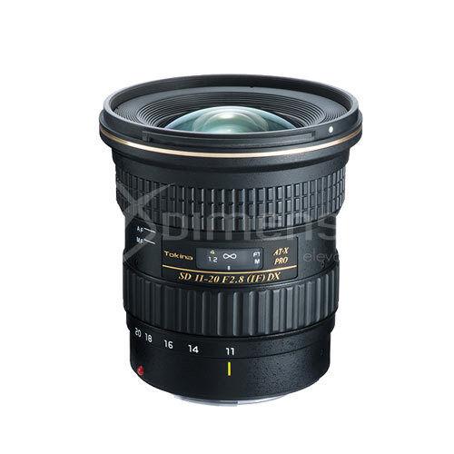 Objetivo para Canon negro distancia focal 11-20 mm, apertura f//2.8, di/ámetro filtro: 82 mm Tokina AT-X 11-20mm PRO DX F2.8