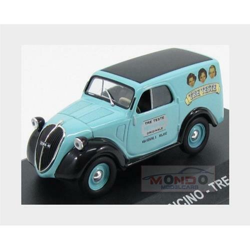 Fiat 500A Furgoncino Van Tre Teste 1948 Light Blue Black Edicola 1:43 VPDC066